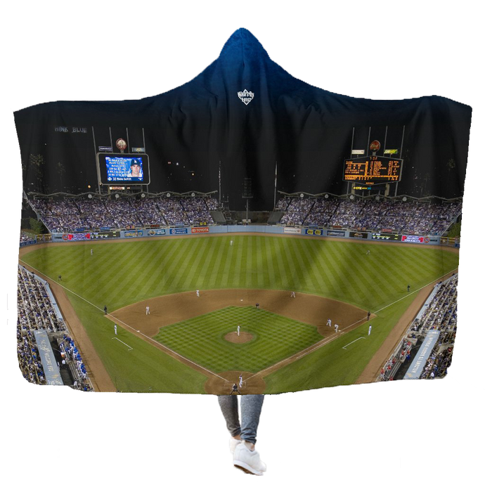 who's on first hooded blanket the stadium