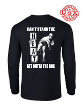 who's on first can't stand the heat long sleeve shirt black