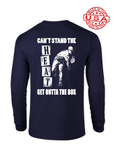 who's on first can't stand the heat long sleeve shirt navy