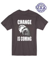 who's on first unisex t-shirt made in usa change is coming asphalt