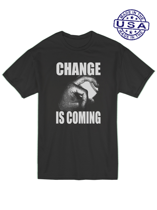 who's on first unisex t-shirt made in usa change is coming lefty black