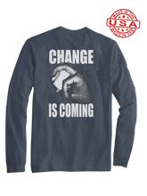 who's on first change is coming long sleeve shirt asphalt
