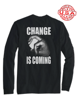 who's on first change is coming long sleeve shirt black