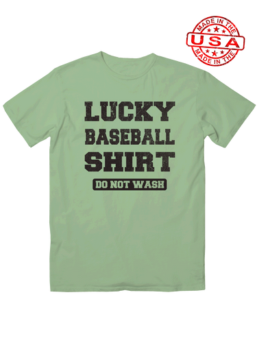 who's on first unisex t-shirt made in usa do not wash my lucky baseball shirt leaf