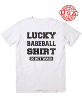 who's on first unisex t-shirt made in usa do not wash my lucky baseball shirt white