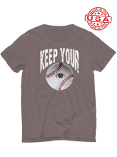 who's on first unisex t-shirt made in usa keep your eye on the ball asphalt