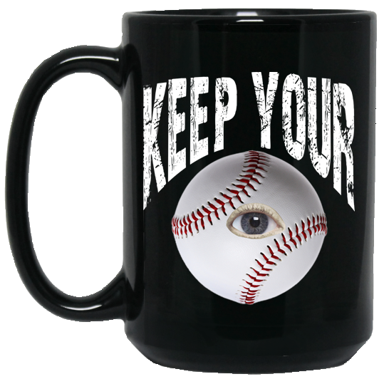 who's on first keep your eye on the ball 15oz coffee mug black