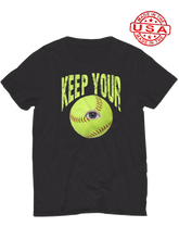 who's on first unisex t-shirt made in usa keep your eye on the ball black