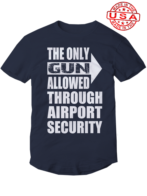 who's on first, the only gun allowed unisex t-shirt made in the usa navy
