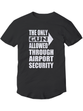 who's on first the only gun allowed youth t-shirt black