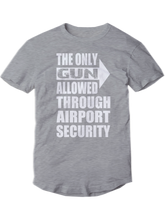 who's on first the only gun allowed youth t-shirt heather