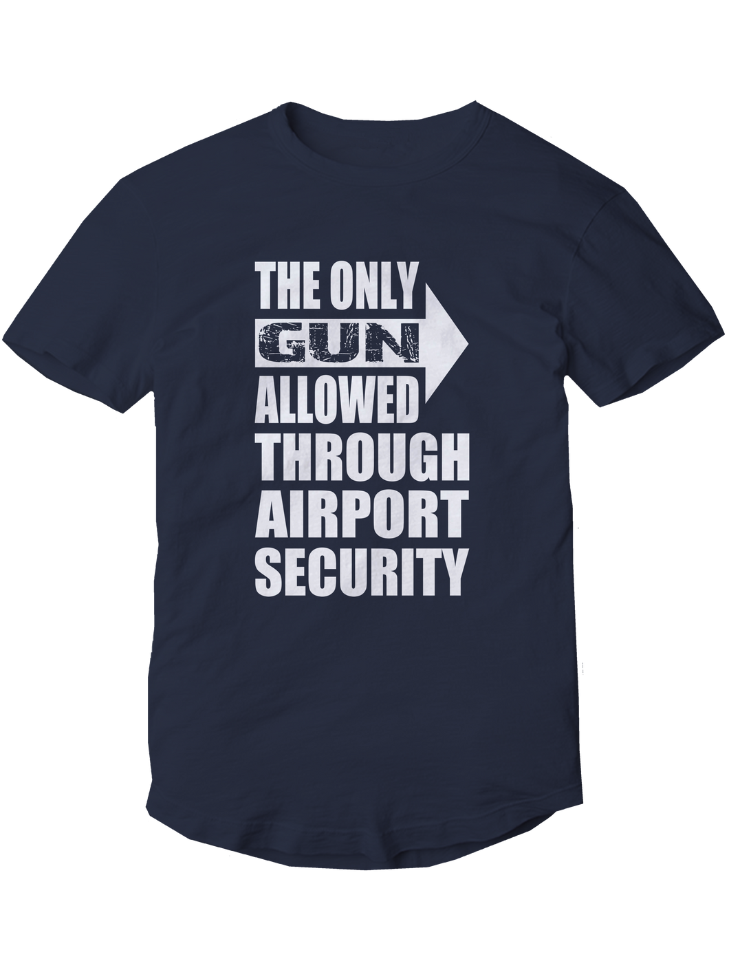 who's on first the only gun allowed youth t-shirt navy