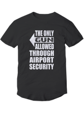 who's on first the only gun allowed youth t-shirt righty black