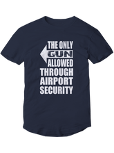 who's on first the only gun allowed youth t-shirt righty navy