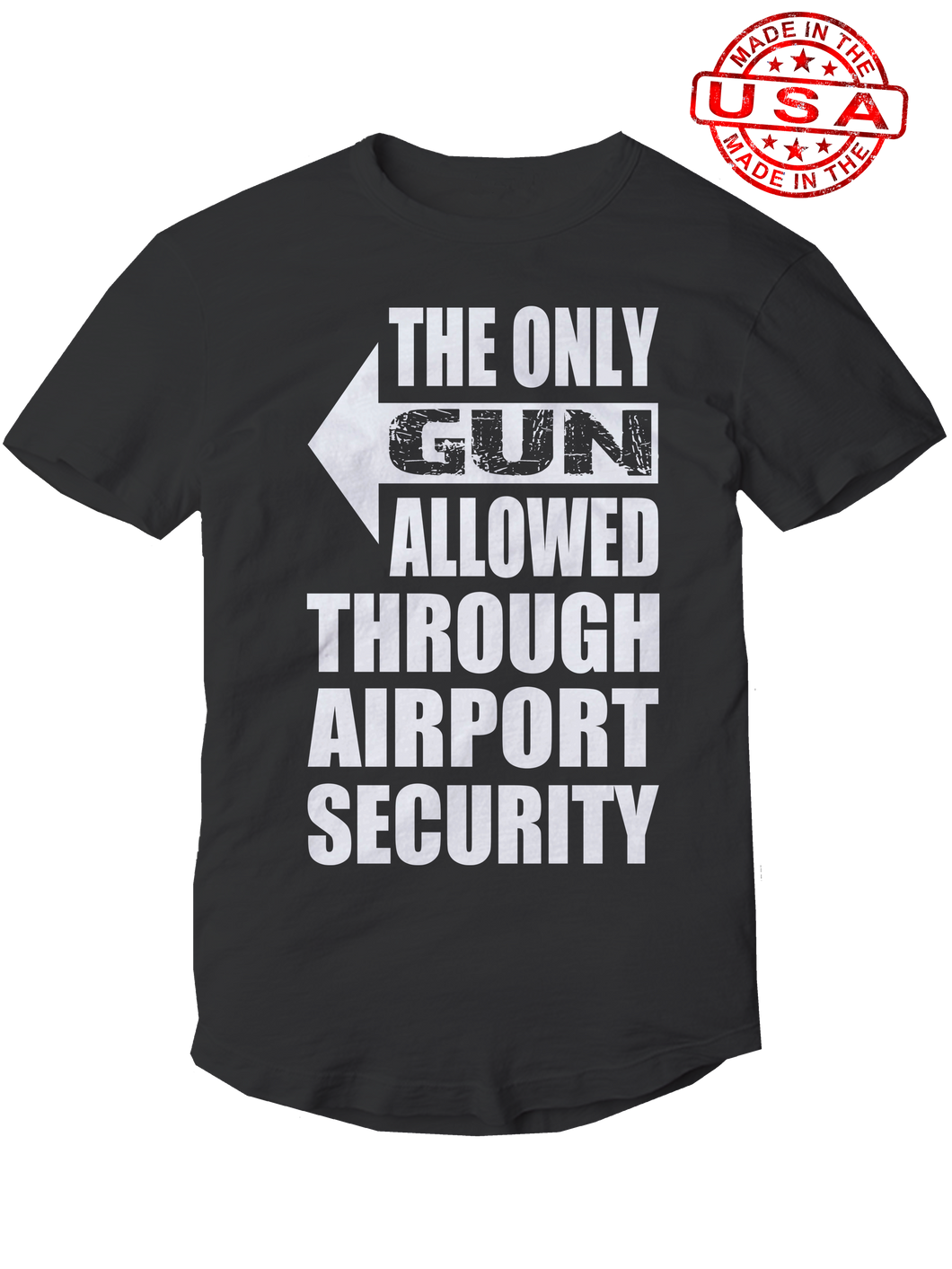who's on first, the only gun allowed unisex t-shirt made in the usa black