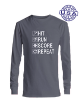who's on first hit run score repeat long sleeve asphalt