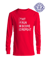 who's on first hit run score repeat long sleeve red
