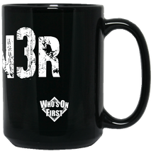 who's on first hotcorn3r 15 oz coffee mug black back
