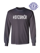 who's on first hotcorn3r long sleeve shirt asphalt