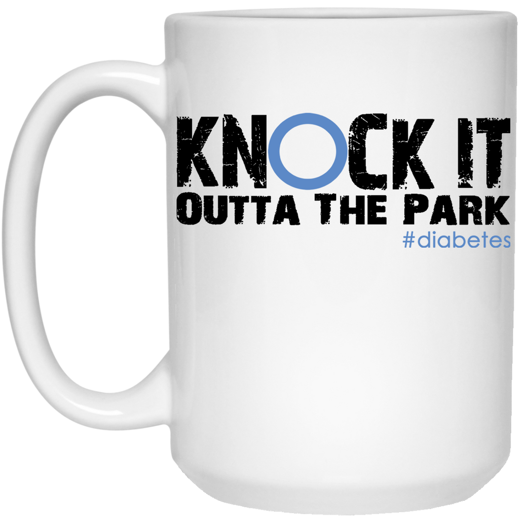 Knock It Outta The Park, 15oz White Mug