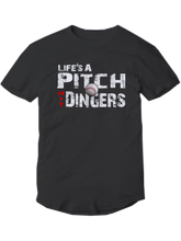 who's on first life's a pitch hit dingers baseball shirt youth black