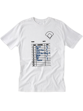 who's on first the lineup youth t-shirt white