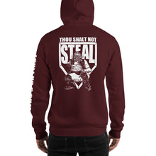 who's on first thou shalt not steal hoodie maroon