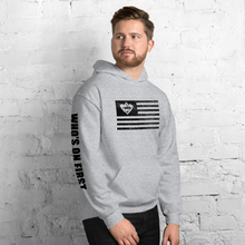who's on first america's pastime hoodie american flag with logo sport grey side view