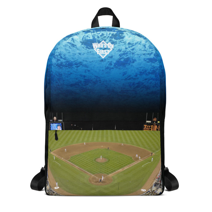 who's on first medium sized backpack the stadium