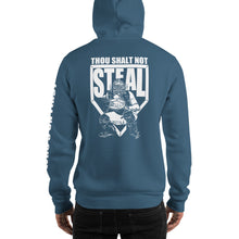 who's on first thou shalt not steal hoodie indigo
