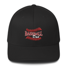 whos on first baseball dad structured cap black