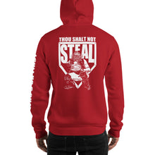 who's on first thou shalt not steal hoodie red