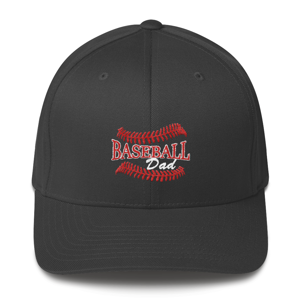whos on first baseball dad structured cap dark grey