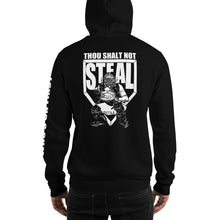 who's on first thou shalt not steal hoodie black