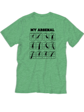 who's on first my arsenal youth t-shirt green