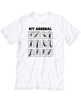 who's on first my arsenal youth t-shirt white