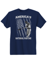 who's on first america's national pastime shirt navy