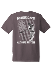 who's on first america's national pastime shirt steel asphalt