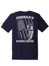 who's on first america's national pastime shirt steel navy