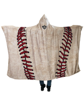 who's on first hooded baseball blanket with pockets keep it simple back view