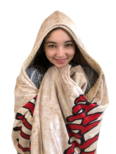 who's on first hooded blanket with pockets keep it simple arms crossed in front
