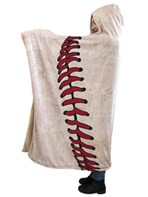 who's on first hooded baseball blanket with pockets keep it simple left view