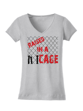 who's on first raised in a cage women's shirt athletic heather