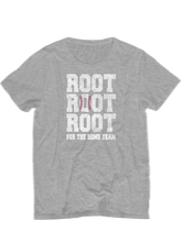 who's on first root root root for the home team youth t-shirt heather