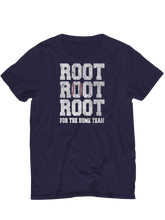 who's on first root root root for the home team youth t-shirt navy
