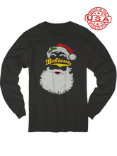 who's on first believe softball santa chirstmas black