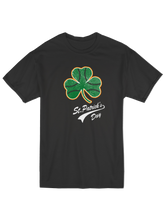 who's on first baseball shamrock youth t-shirt black