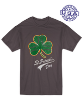 who's on first, baseball shamrock unisex t-shirt made in usa asphalt
