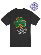 who's on first, baseball shamrock unisex t-shirt made in usa black