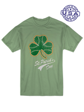 who's on first, baseball shamrock unisex t-shirt made in usa leaf